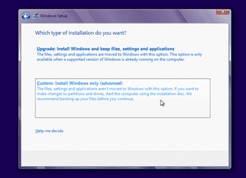 Cara install windows 8