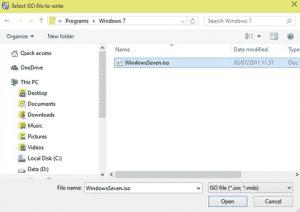 pilih file iso di CDBurnerXp