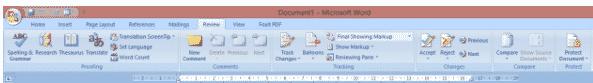 Mengenal Fungsi Bagian-Bagian Menu Pada Microsoft Word 2007